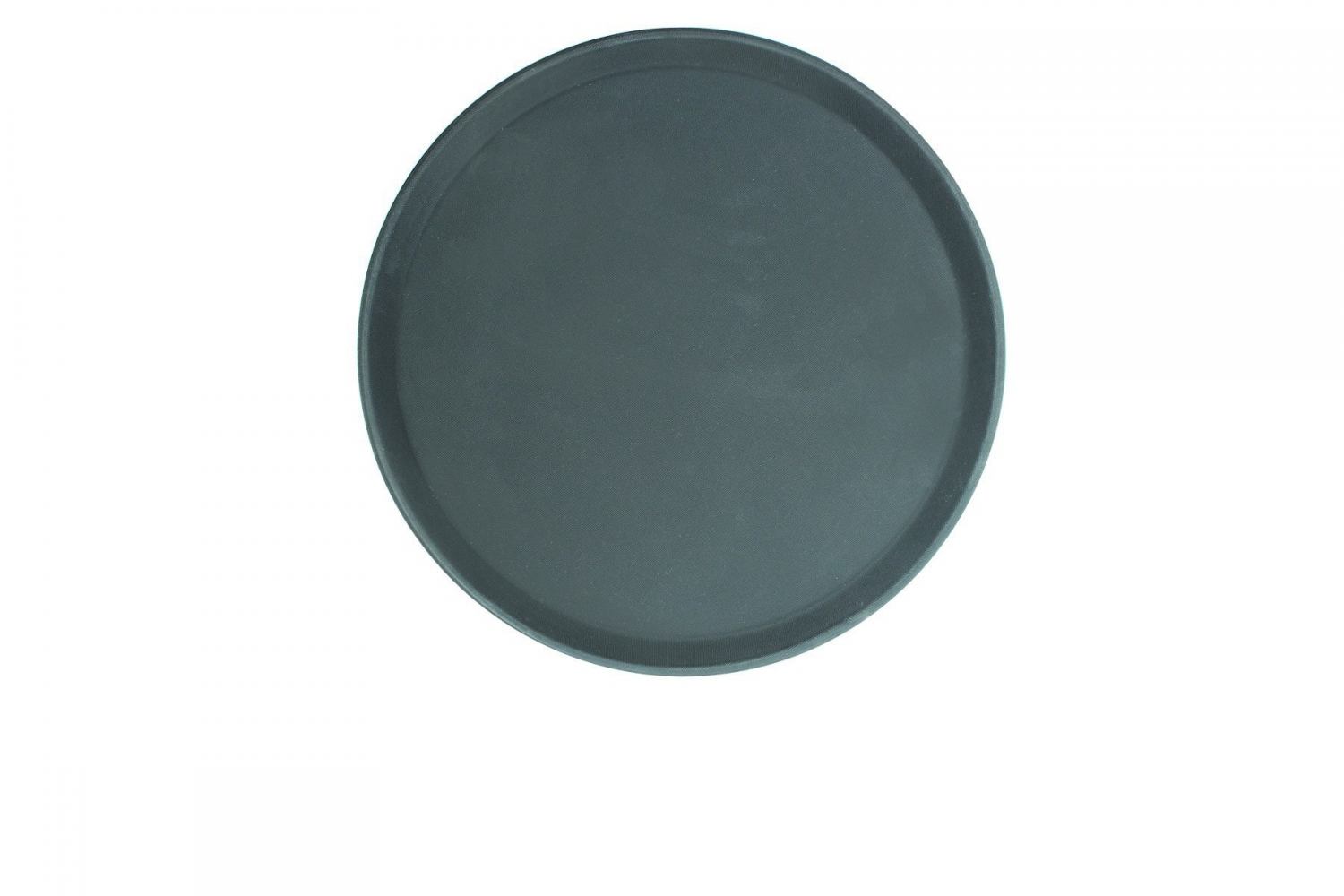 Thunder Group PLFT1600BK Black Round Fiberglass Tray 16""