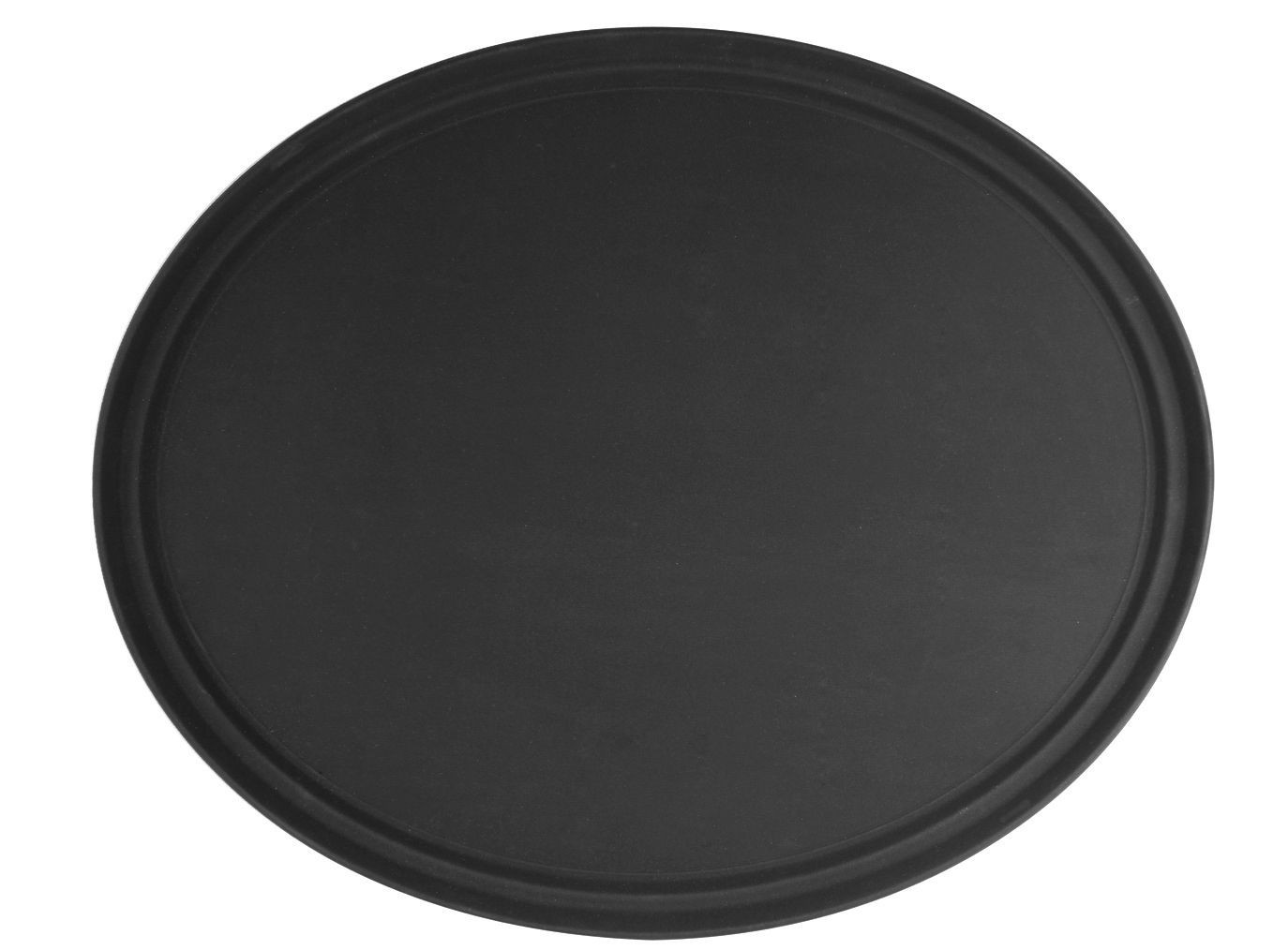 "Thunder Group PLFT2700BK Black Oval Fiberglass Tray 22"" x 27"""