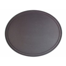 Thunder Group PLFT2700BR Brown Oval Fiberglass Tray 22""