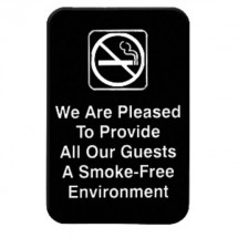 Thunder Group PLIS6901BK SMOKE-FREE ENVIRONMENT Sign - 1 doz