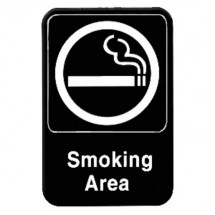 Thunder Group PLIS6902BK SMOKING AREA Sign - 1 doz