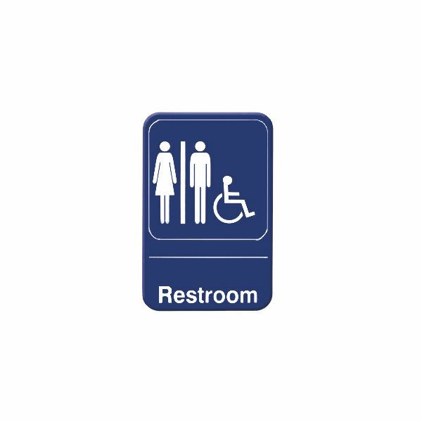 Thunder Group PLIS6903BL RESTROOM / ACCESSIBLE Sign - 1 doz