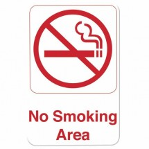 Thunder Group PLIS6905RD NO SMOKING AREA Sign - 1 doz
