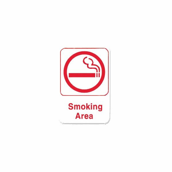 Thunder Group PLIS6906RD SMOKING AREA Sign - 1 doz