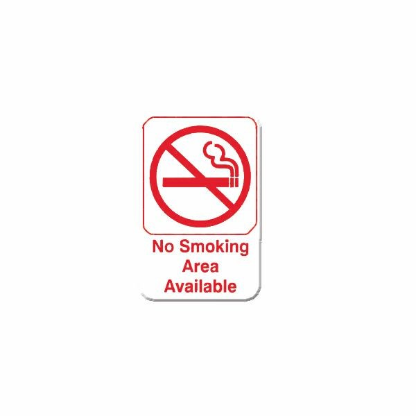 Thunder Group PLIS6910RD NO SMOKING AREA AVAILABLE Sign - 1 doz
