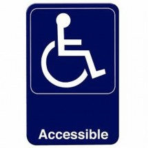 Thunder Group PLIS6911BL ACCESSIBLE Sign - 1 doz