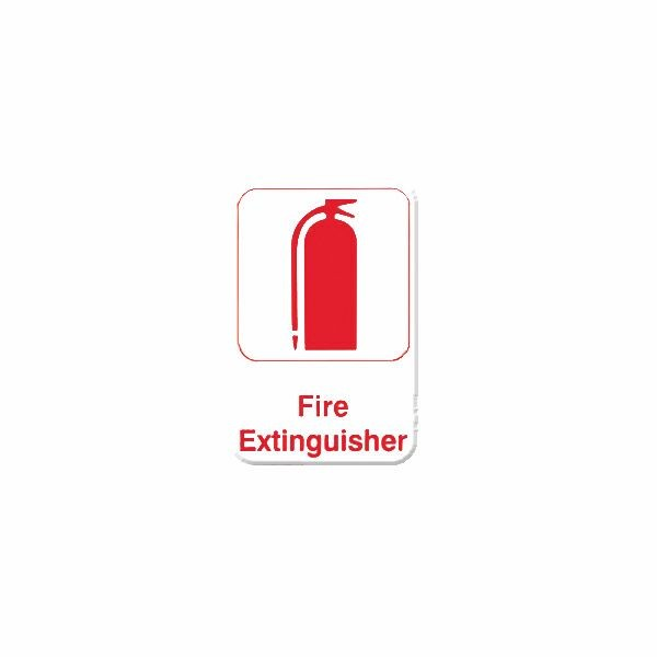 Thunder Group PLIS6913RD FIRE EXTINGUISHER Sign - 1 doz