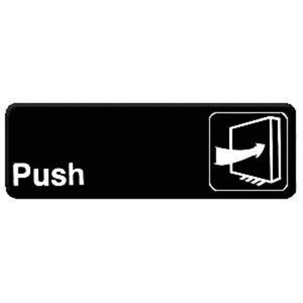 Thunder Group PLIS9301BK PUSH Information Sign - 1 doz
