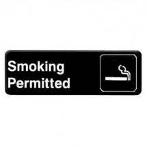 Thunder Group PLIS9312BK SMOKING Information Sign - 1 doz