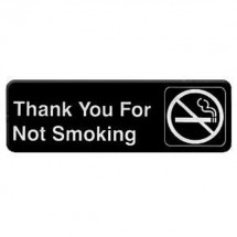 Thunder Group PLIS9318BK THANK YOU FOR NOT SMOKING Sign - 1 doz