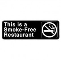 Thunder Group PLIS9320BK SMOKE FREE RESTAURANT Sign - 1 doz