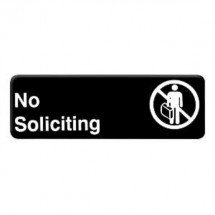 Thunder Group PLIS9322BK NO SOLICITING Sign