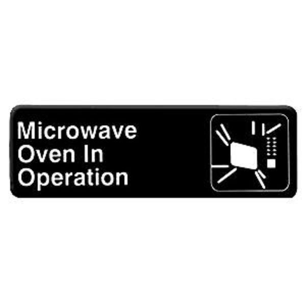 Thunder Group PLIS9324BK MICROWAVE OVEN IN OPERATION Sign - 1 doz