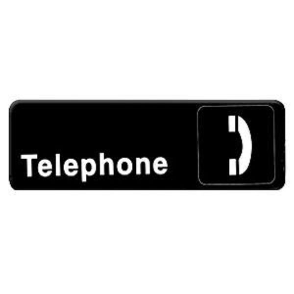 Thunder Group PLIS9328BK TELEPHONE Information Sign - 1 doz