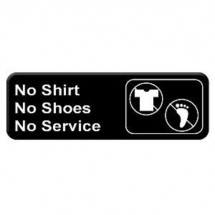 Thunder Group PLIS9330BK NO SHIRT NO SHOES NO SERVICE Sign - 1 doz