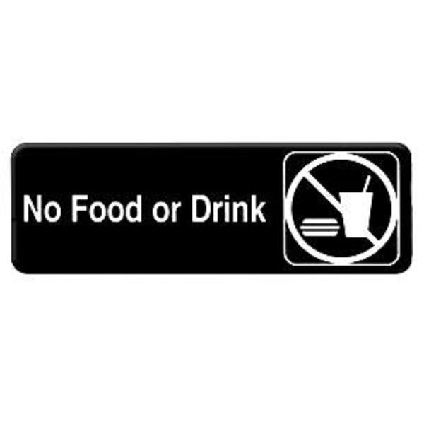 Thunder Group PLIS9331BK NO FOOD OR DRINK Sign - 1 doz