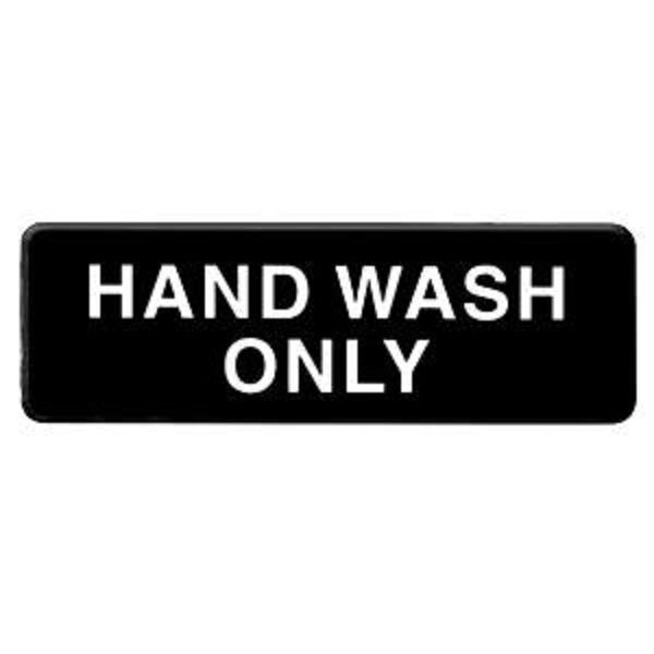 Thunder Group PLIS9333Bk HAND WASH ONLY Sign