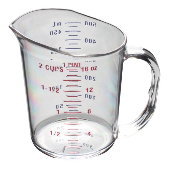 Thunder Group PLMC016CL Polycarbonate Measuring Cup 1 Pint - 1 doz