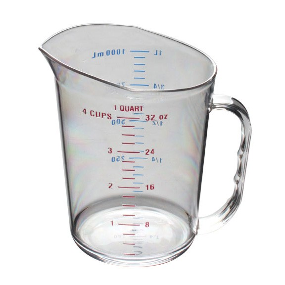 Thunder Group PLMC032CL Polycarbonate Measuring Cup 1 Qt.