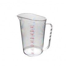 Thunder Group PLMC128CL Polycarbonate Measuring Cup 4 Qt. - 4 pcs