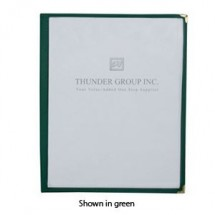 "Thunder Group PLMENU-1 Single Page Menu Holder 8-1/2"" x 11"" - 10 pcs"
