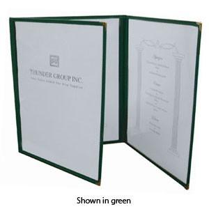 "Thunder Group PLMENU-3 Triple Fold Menu Holder 8-1/2"" x 11"" - 10 pcs"
