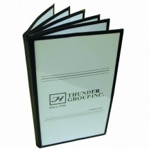 Thunder Group PLMENU-6TGI 6-Page Book Fold Black Menu Holder 7-1/2