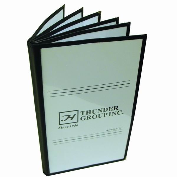Thunder Group PLMENU-6TGI 6 Page Black Menu Holder - 25 pcs