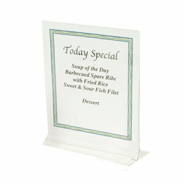 "Thunder Group PLMH001 Acrylic Table Card Holder 5-1/2"" x 3-1/2"" - 1 doz"