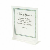 "Thunder Group PLMH002 Acrylic Table Card Holder 4"" x 6"" - 1 doz"