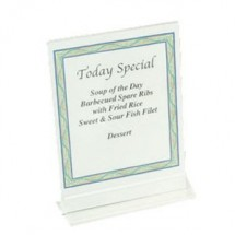 "Thunder Group PLMH003 Acrylic Table Card Holder 5"" x 7"" - 1 doz"