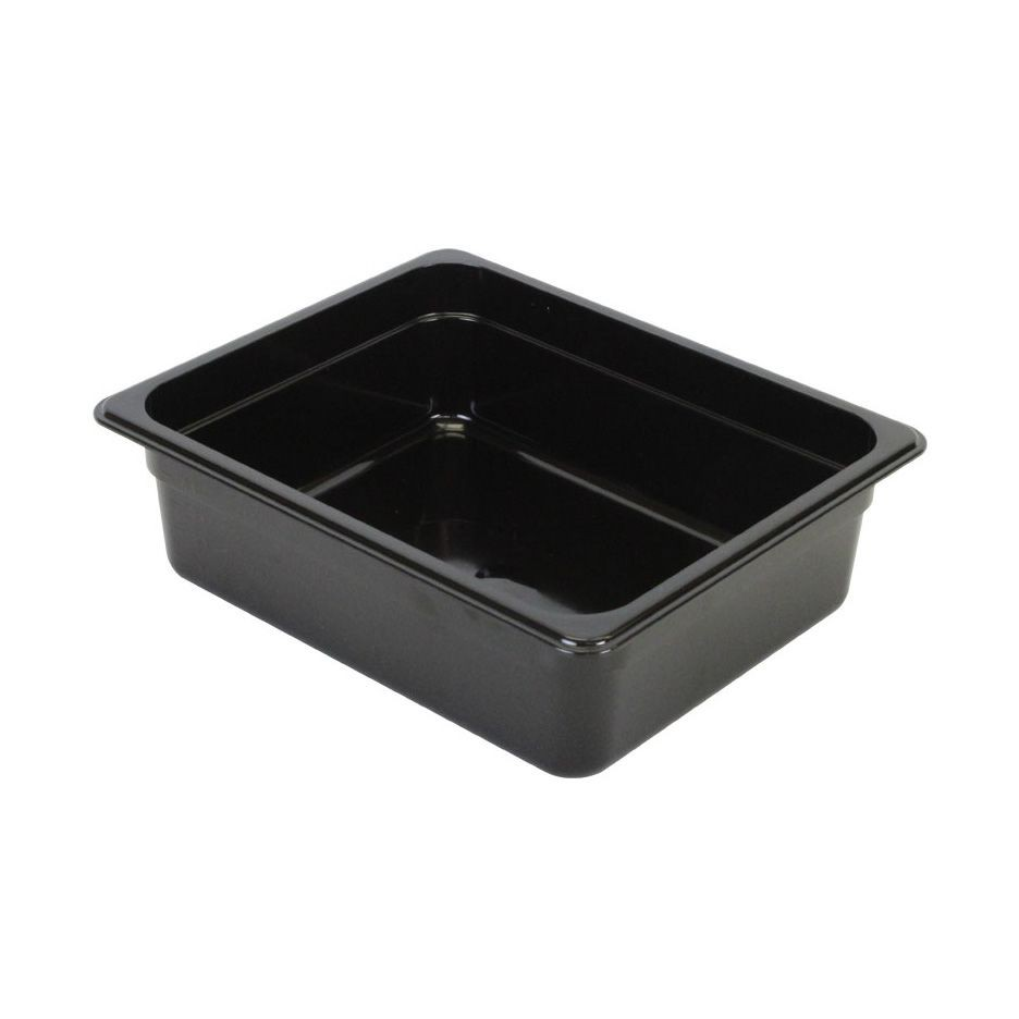 "Thunder Group PLPA8124BK Half Size Food Pan 4"" - 1/2 doz"