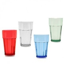 Thunder Group PLPCTB110 10 oz. Polycarbonate Diamond Tumblers - 1 doz