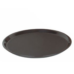"Thunder Group PLRT012 Round Slip Resistant Serving Tray 12"" - 1 doz"