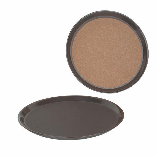 "Thunder Group PLRT012CK Round Slip Resistant Serving Tray With Cork 12"" - 1 doz"