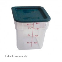 Thunder Group PLSFT004PC Clear Storage Container 4 Qt.