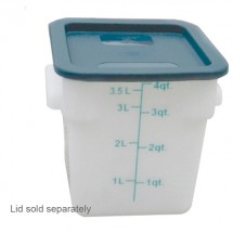 Thunder Group PLSFT004PP White Storage Container 4 Qt. - 1/2 doz