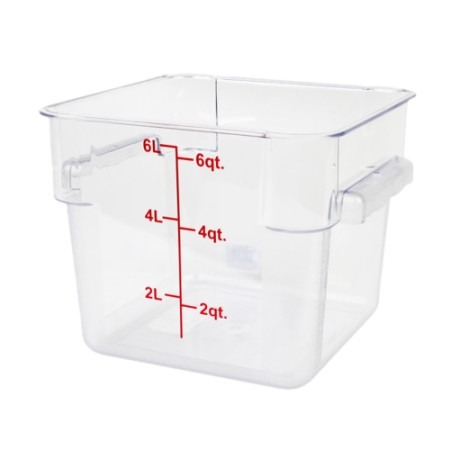 Thunder Group PLSFT006PC Clear Storage Container 6 Qt. - 1/2 doz