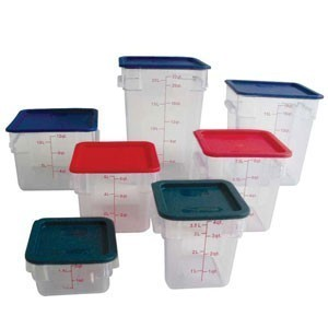 Thunder Group PLSFT008PC Clear Storage Container 8 Qt. - 1/2 doz