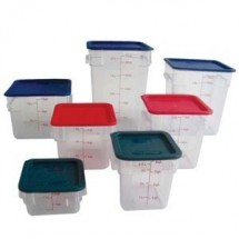 Thunder Group PLSFT012PC 12 qt. Clear Storage Container - 1/2 doz