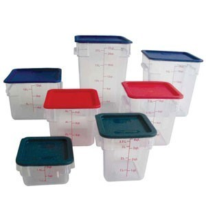 Thunder Group PLSFT012PC Clear Storage Container 12 Qt. - 1/2 doz