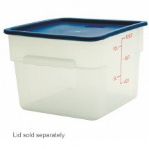 Thunder Group PLSFT012PP 12 qt. White Storage Container - 1/2 doz