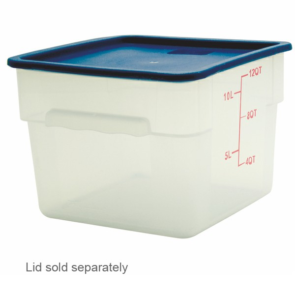 Thunder Group PLSFT012PP White Storage Container 12 Qt. - 1/2 doz