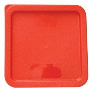 Thunder Group PLSFT0608C Red Container Cover 6 & 8 Qt. - 1/2 doz