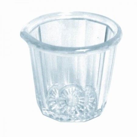 Thunder Group PLSP002D Fluted Acrylic Syrup Cup 2 oz.