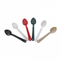 "Thunder Group PLSS113 Polycarbonate Perforated Spoon 11"" - 1 doz"