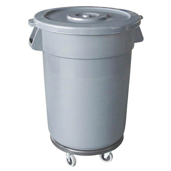 Thunder Group PLTC032GL Grey Lid For Plastic Trash Can 32 Gal