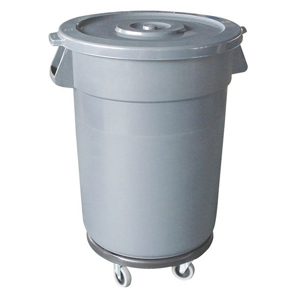 Thunder Group PLTC044GL Grey Lid For Plastic Trash Can 32 Gal