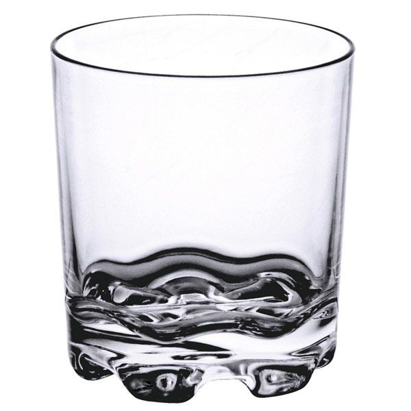 Thunder Group PLTHRG012C Polycarbonate Rocks Glass 12 oz. - 1 doz