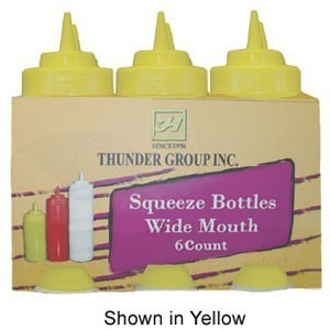Thunder Group PLTHSB032 Wide-Mouth Squeeze Bottle 32 oz. - 1/2 doz